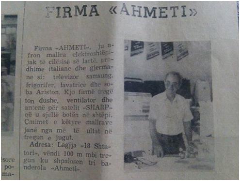 """Ahmet Ahmeti, nga të parët tregëtarë në Gjirokastër që """"Sillte Botën në Shtëpi"""", me buzëqeshjen karakteristike poshtë mustaqeve!"""