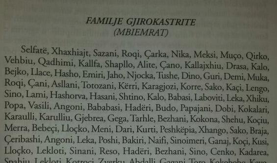 Një dokument i veçantë: Fiset e familjet gjirokastrite që kontribuan në luftra së bashku me Bajo e Çerçiz Topullin