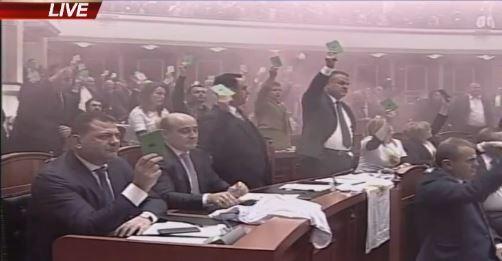 Momentet e Hedhjes së Tymueses në Kuvendin e Shqipërisë! Situatë e tensionuar brenda dhe jashtë Kuvendit të Shqipërisë!