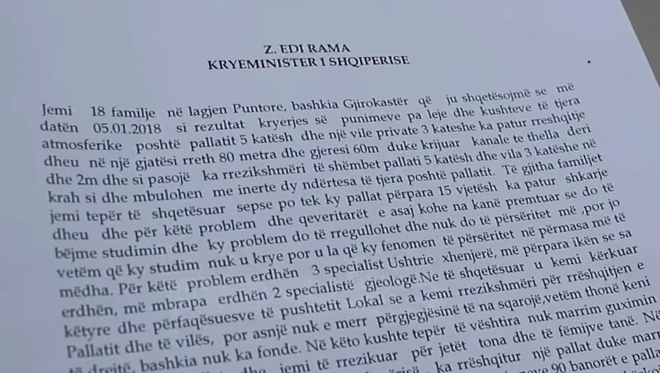 Banorët i Dërgojnë Peticion Kryeministrit mbi Masat Urgjente për Pallatin që Rrezikon të Shëmbet! Bashkia dhe Shërbimi Gjeologjik me dy mendje!