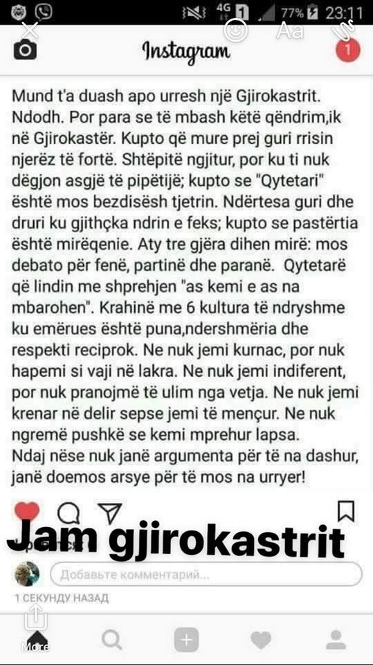 """""""Mund t'a Duash apo Urresh një Gjirokastrit!"""" - Postimi që të gjithë Gjirokastritët do të Donin ta Shpërndanin!"""