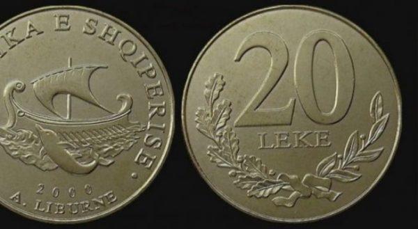 Monedha të Reja në Qarkullim - 20 Lekë tani jo më pa Pikat mbi e...