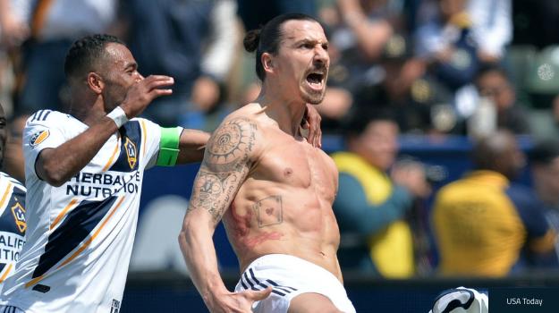 Zlatan Ibrahimoviç i Papërmbajtshëm në Debutimin me Galaxy, Goli nga Largësia 35 metra Pushton Rrjetin!