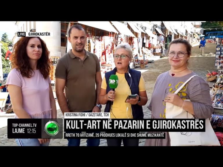 """""""Kult Art"""" në Pazarin e Gjirokastrës - Atmosferë Festive në Ditët e Trashëgimisë Kulturore (VIDEO)"""