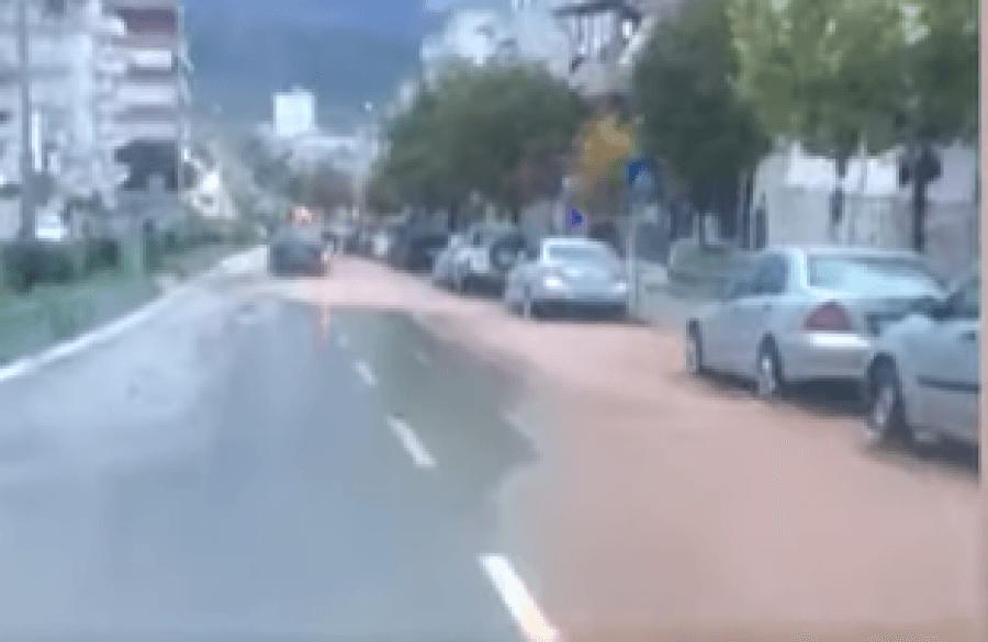 Përmbytet Gjirokastra - Përroi i Çullos Sërish Problem Sidomos për Banesat ku Kalon