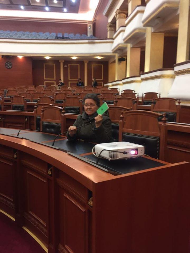 Ja Pse Dr. Flutura Hashorva Shkoi Dje në Sallën e Parlamentit Shqiptar