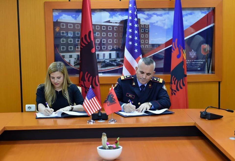 Ambasada Amerikane në Tiranë, Mbështetje me Logjistikë për Interpol Tiranën