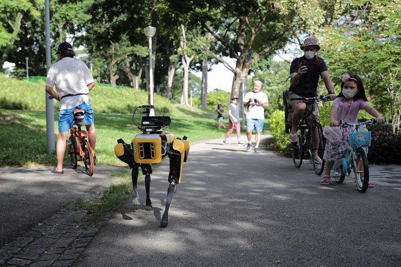 Vjen ROBODOG! Testohet ne Singapor Qeni Robot qe survejon njerezit ne park! (Video)