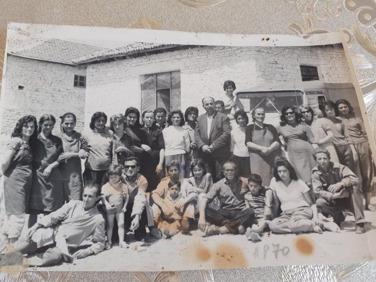 Kujtesë/Në këtë foto të rallë të arkivit tonë janë punonjësit e koçekëve dhe përpunimit të bimëve medicinale në qytetin e Gjirokastrës