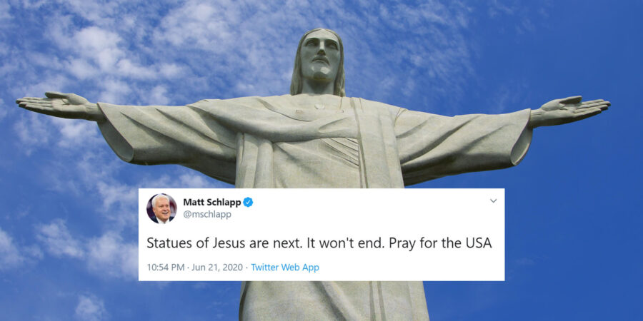 """Statujat e Jezusit në Rrezik - Aktivistët e Majtë """"Anti Epërsisë së Njerëzve të Bardhë"""" Duan Rrëzimin e Tyre!"""