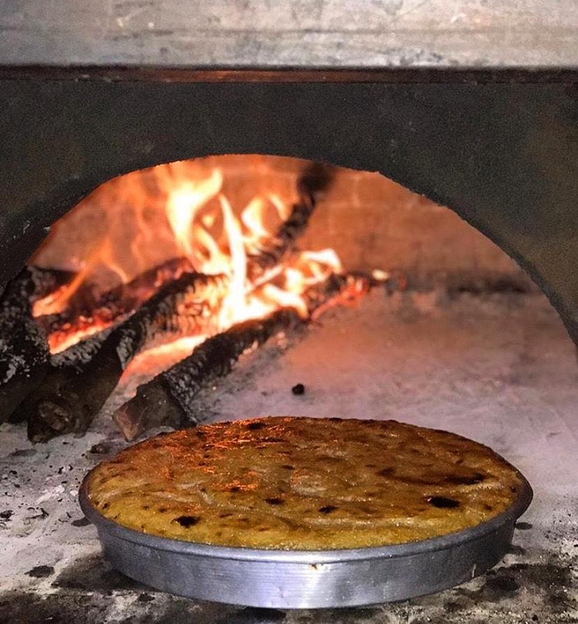 Oda e Hasan Beut me ushqime tradiconale te zones se Tepelenes