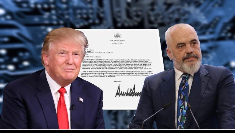 Leter falenderuese e Presidentit te SHBA, Donald Trump per Kryeministrin Edi Rama