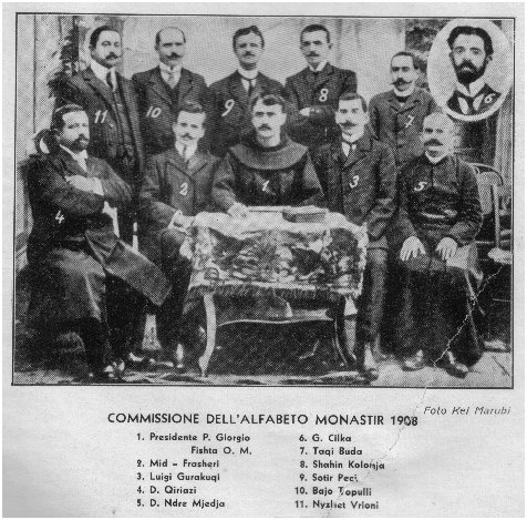 14 Nentor 1908, Kongresi i Manastirit ku mori pjese edhe patrioti i shquar gjirokastrit Bajo Topulli