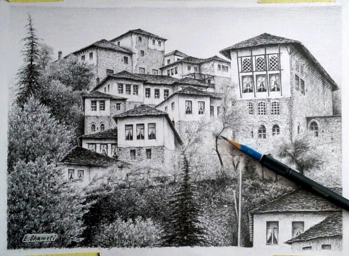 Gjirokastra në punimet e Ervin Shametit-Urime dhe krijimtari të mbarë!