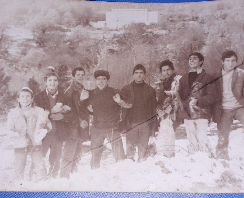 Kujtime te bukura, At Theodhor Nikolla me shoket e Liceut Artistik ne Malin e Dajtit