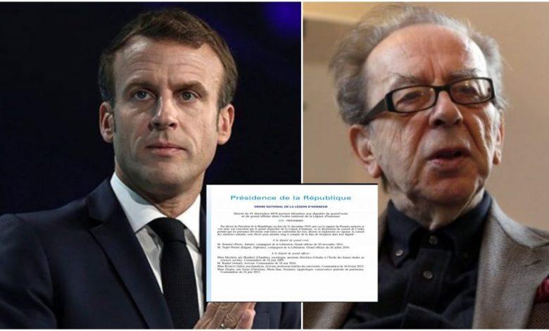 Presidenti francez Emmanuel Macron nderon Ismail Kadarenë me një titull të lartë shtetëror