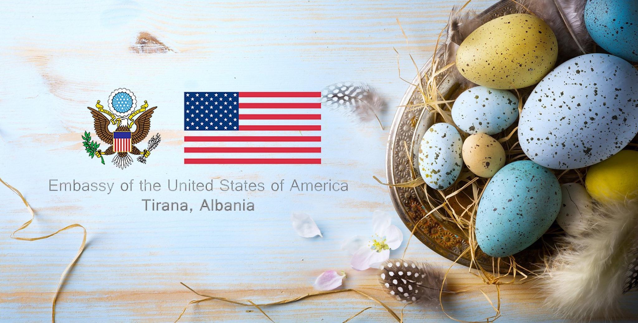 Urim/ Gëzuar Pashkët nga të gjithë ne në Ambasadën Amerikane!