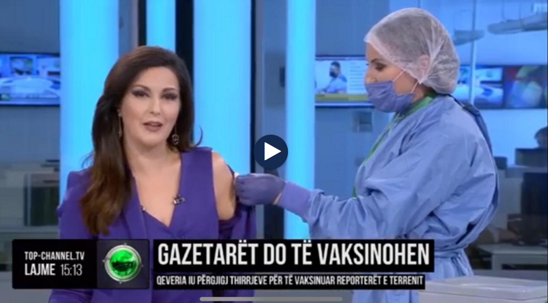 Ndodh Live/ Gazetarja e Top Channel merr vaksinen dhe emocionohet aq shume sa...