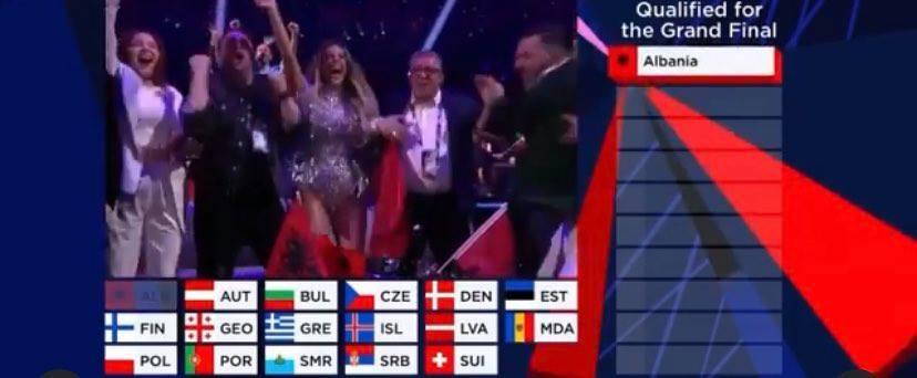 Shqiperia kualifikohet per here te trete ne 'Eurovision', Anxhela jep nje mesazh per gjithe Shqiptaret