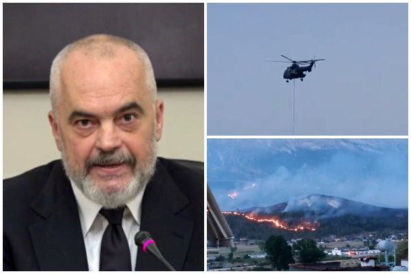 Kryeministri Edi Rama per situatën e krijuar në vend nga zjarret dhe i shpreh ngushëllimet familjes së të ndjerit Andrea Haxhiaj