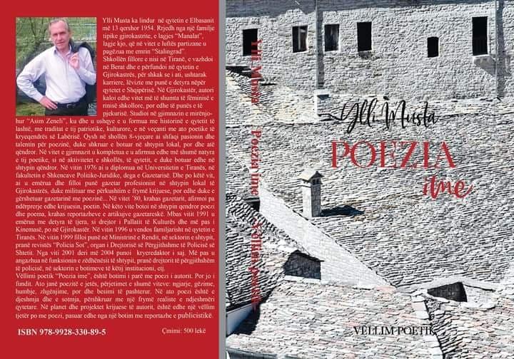 """Poeti i njohur Ylli Musta me vellimin e ri poetik """"Poezia ime """" qe te le pa gjume!"""