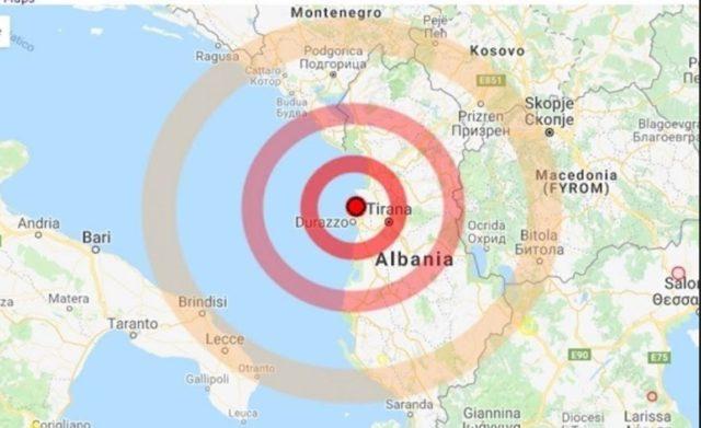 Para pak minutash nje termet i fuqishem 4.8 rihter eshte ndier ne Lezhe dhe Tirane, alarmohen banoret...